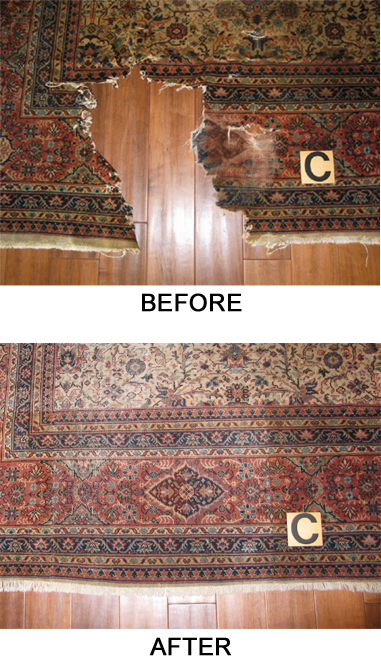 oriental rug repair vertical