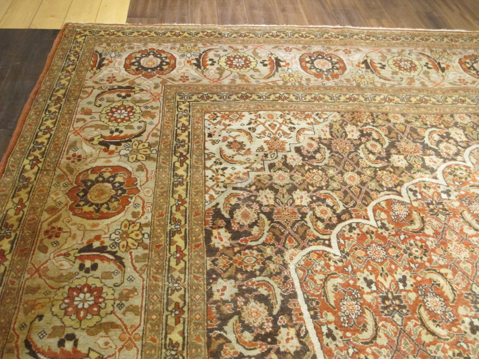 10 antique persian tabriz rug 11x17,4 (2)