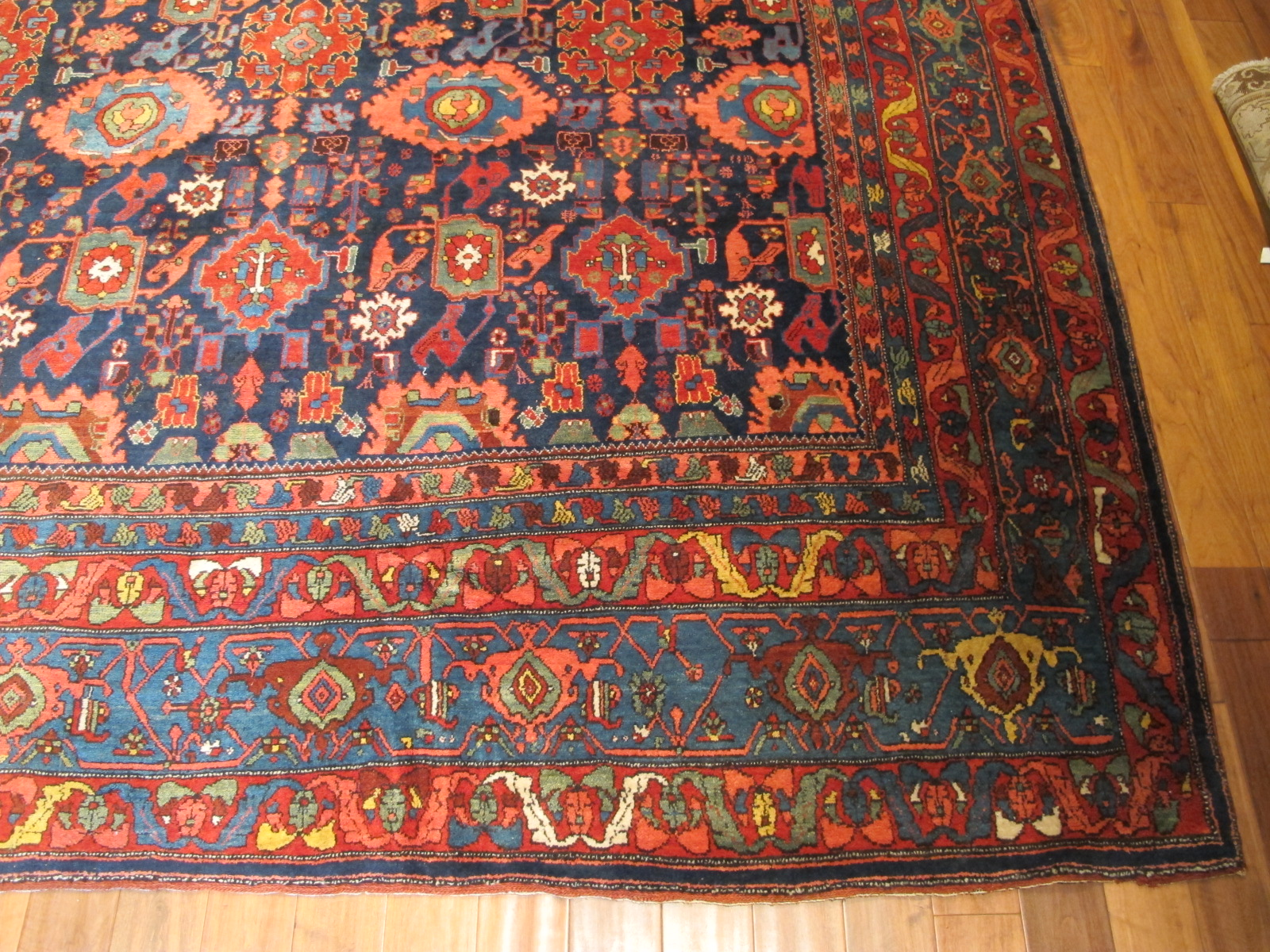 12478 Antique Persian Bidjar carpet 13,1 x 20 (3)