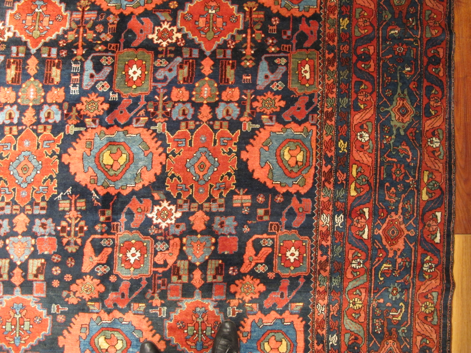 12478 Antique Persian Bidjar carpet 13,1 x 20 (4)