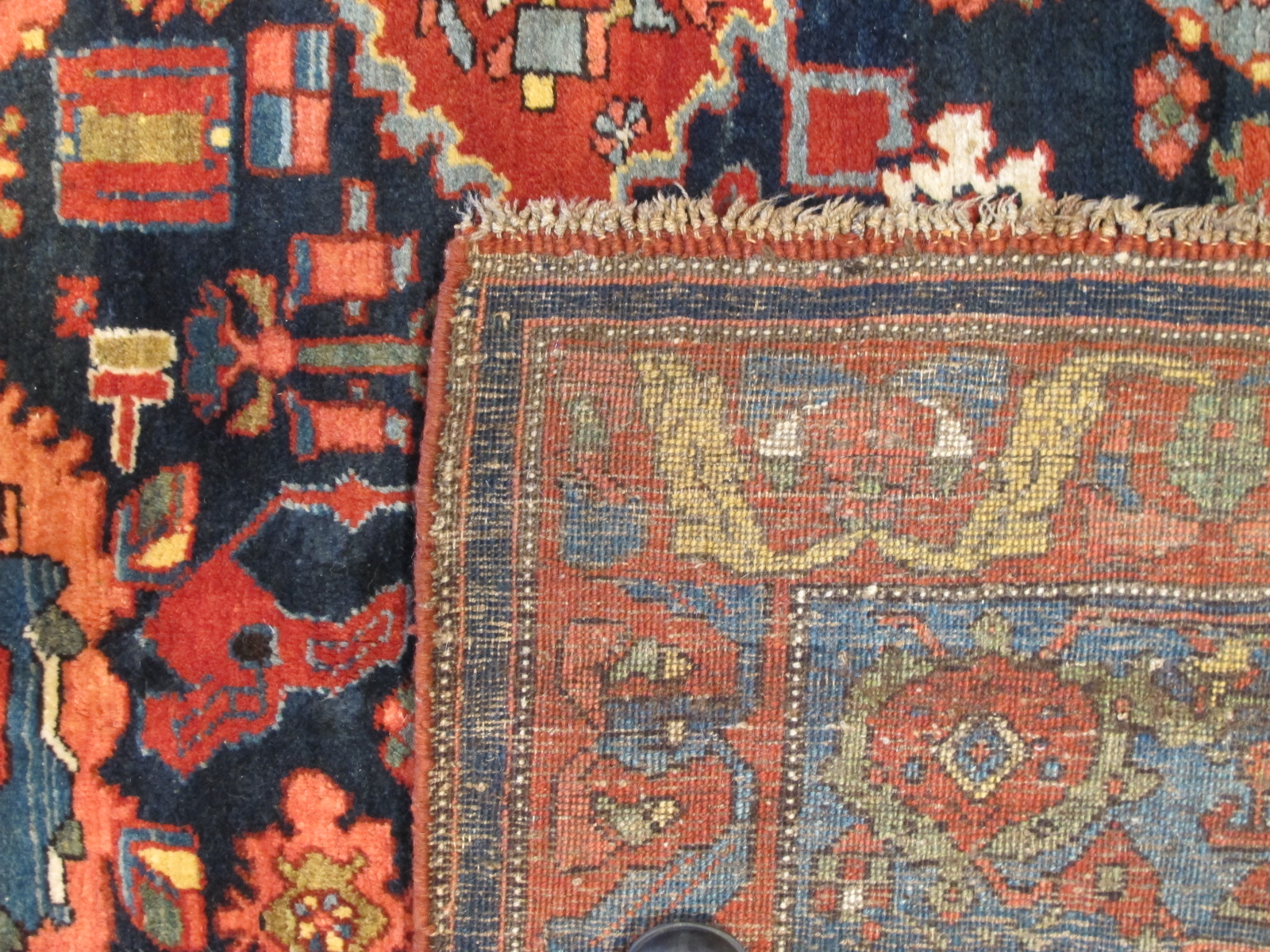 12478 Antique Persian Bidjar carpet 13,1 x 20 (5)