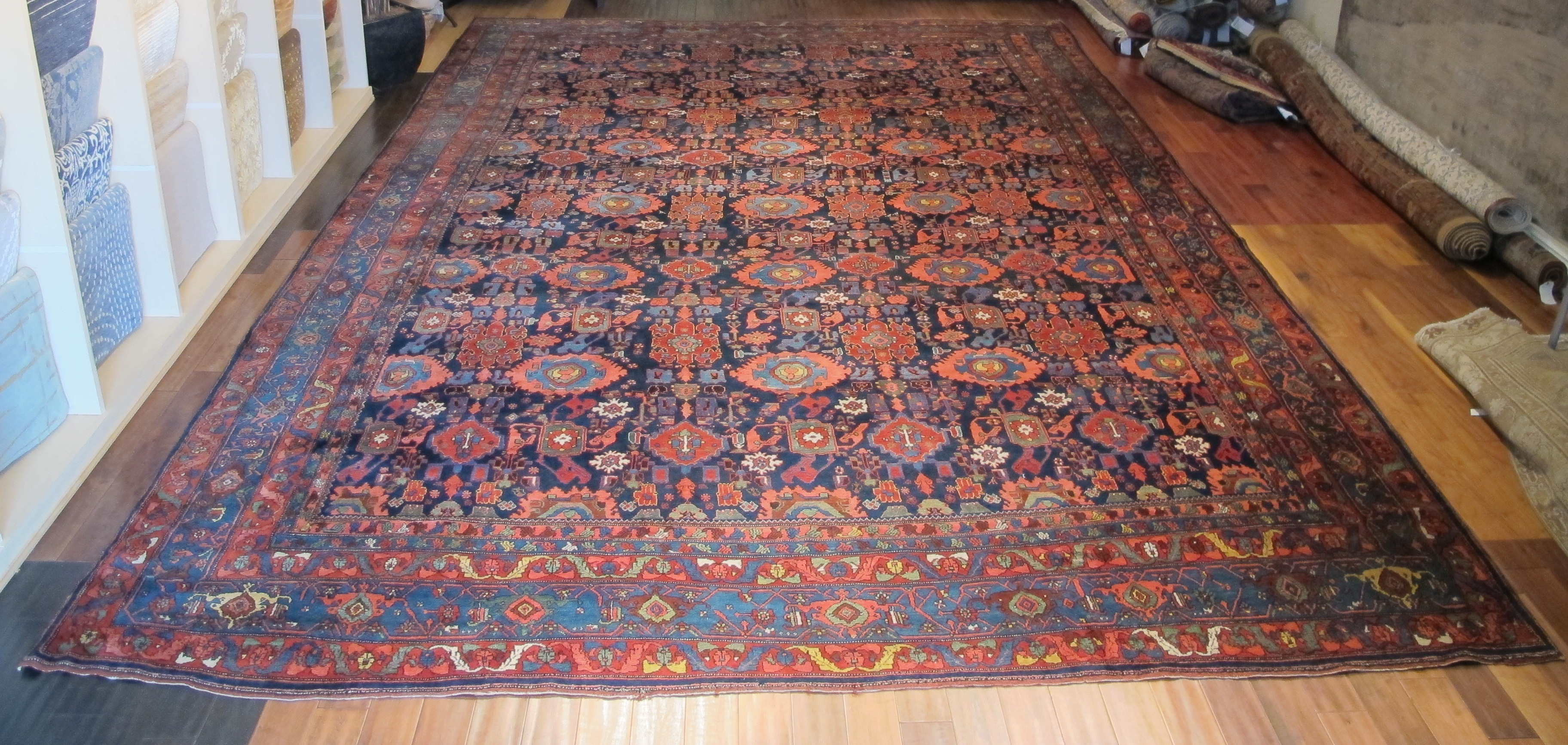 12478 Antique Persian Bidjar carpet 13,1 x 20 (6)