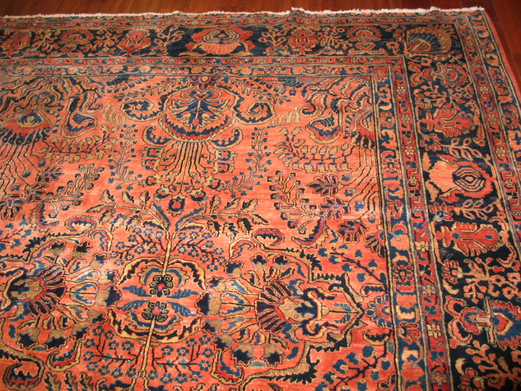 12849 vintage Persian Sarouk carpet 10,9 x 15 (2)