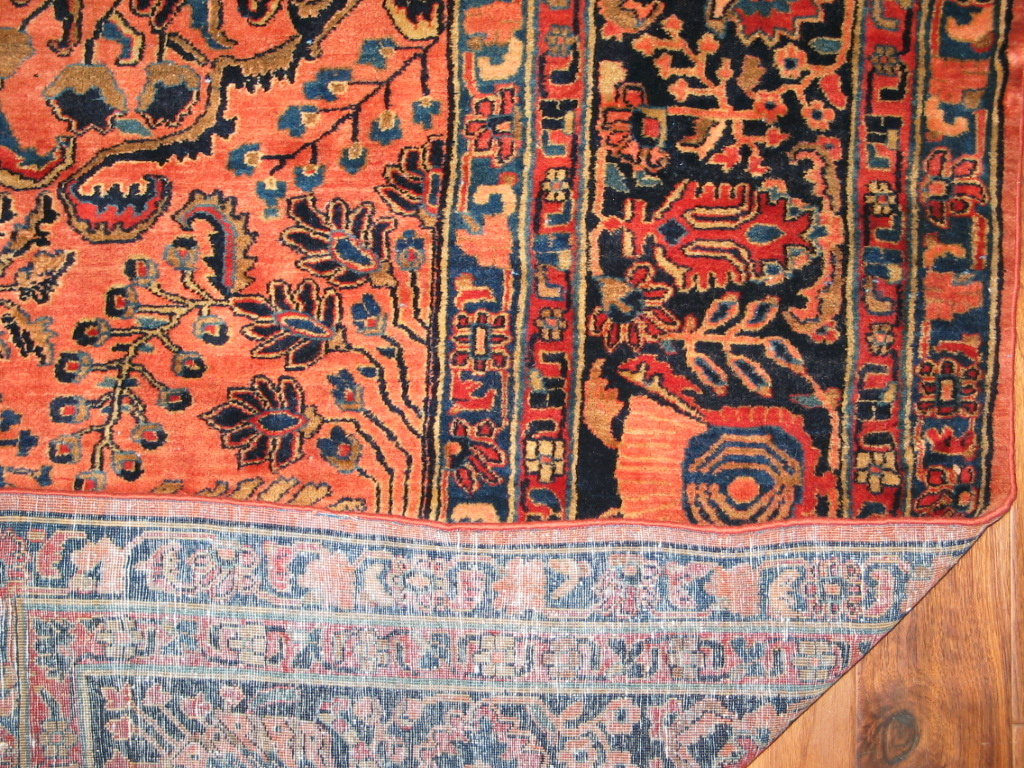 12849 vintage Persian Sarouk carpet 10,9 x 15 (3)