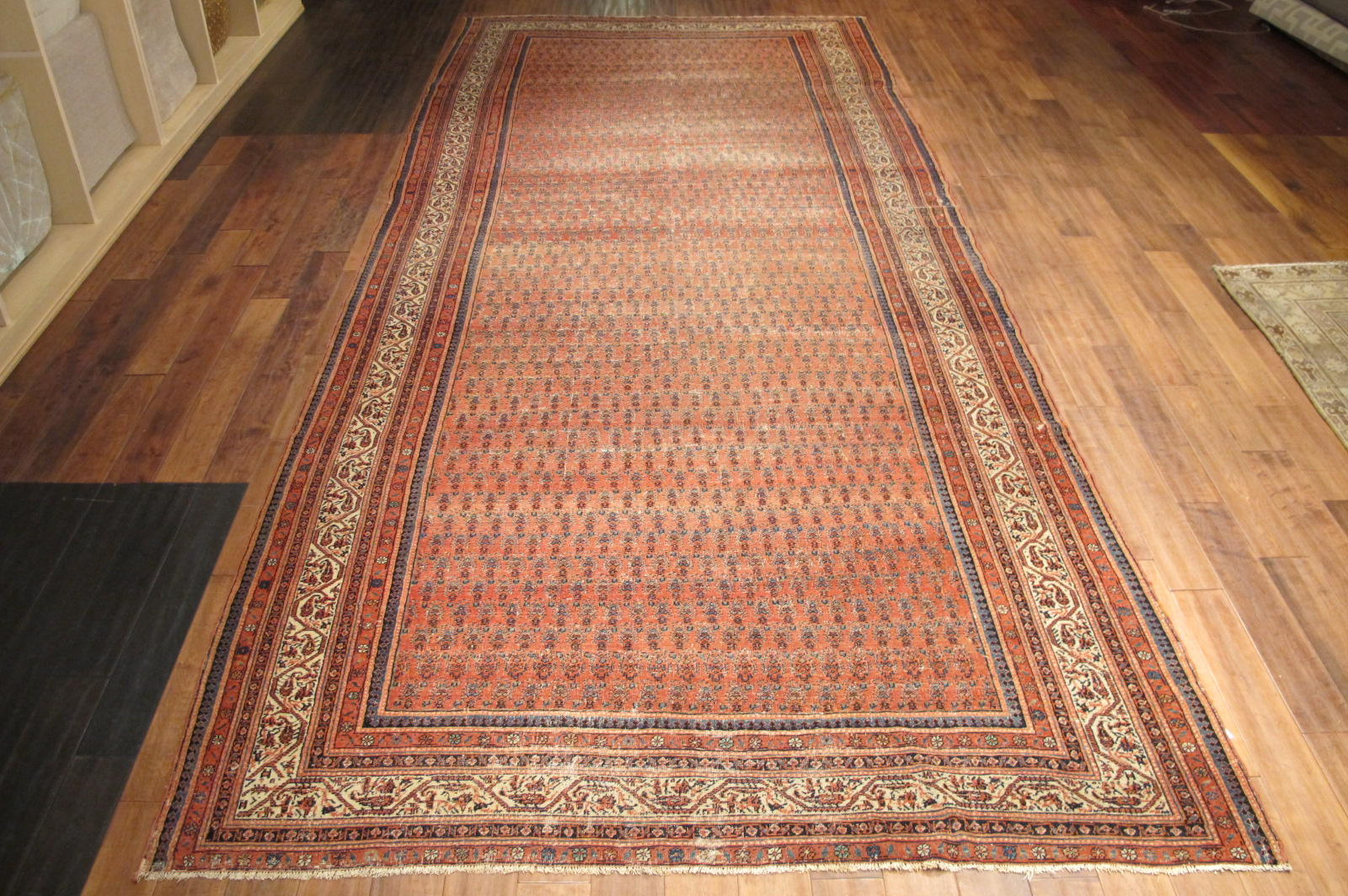 12866 antique persian serband corridor rug 6,9 x 16 (1)
