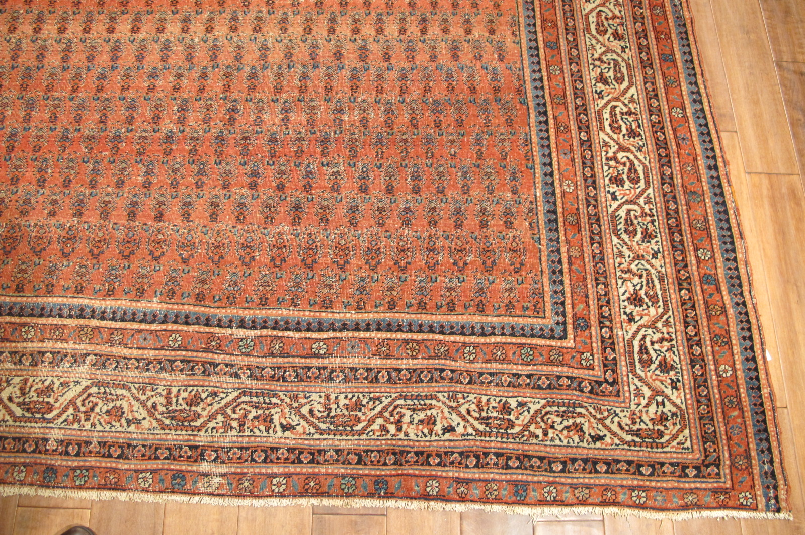 12866 antique persian serband corridor rug 6,9 x 16 (2)