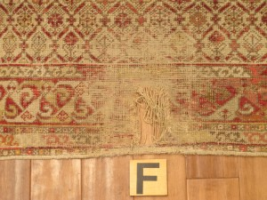 Anatolian Rug 6' 4 x 6' 5 - before repair (2)