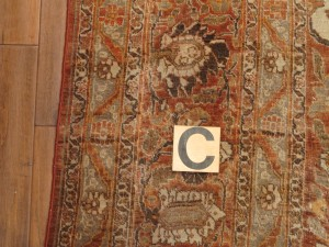 Persian Tabriz rug 8'8 x 10'8-after repair (2)