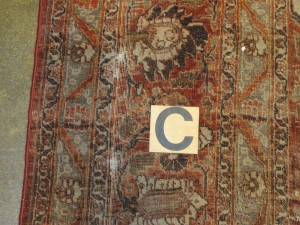 Persian Tabriz rug 8'8 x 10'8-before repair (3)