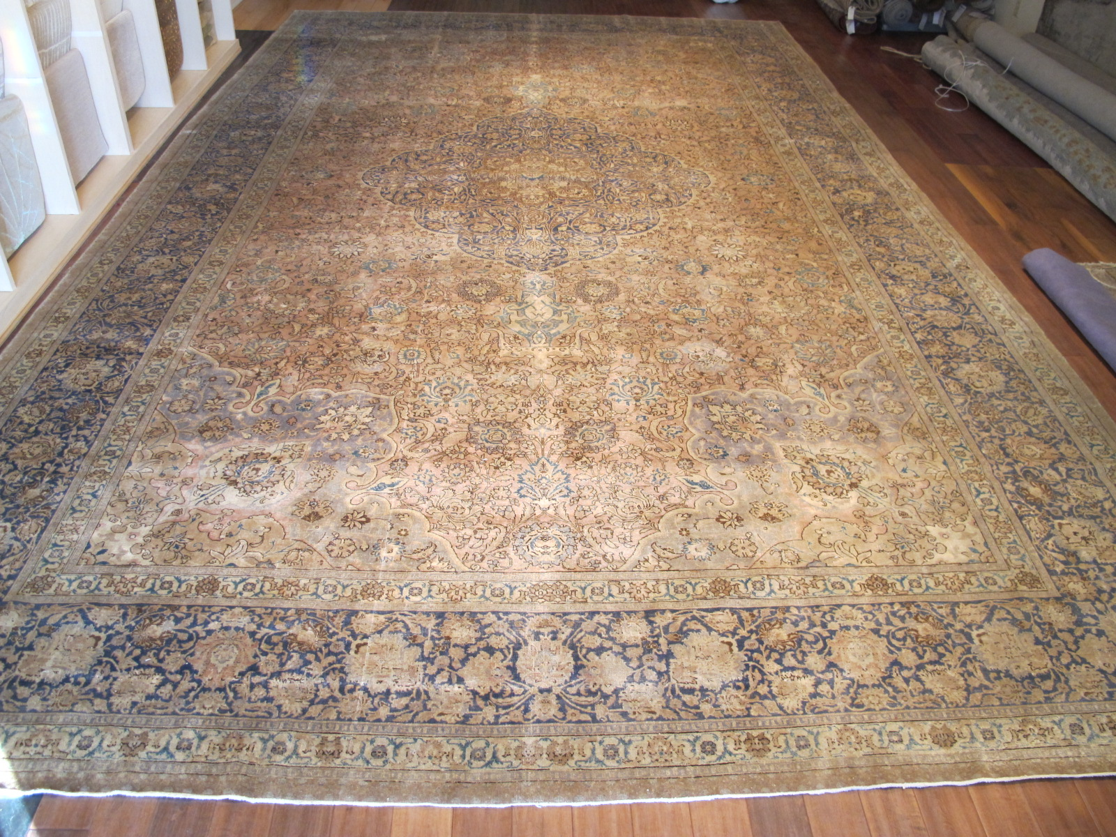 12584 antique persian tabriz rug 12,9 x 21