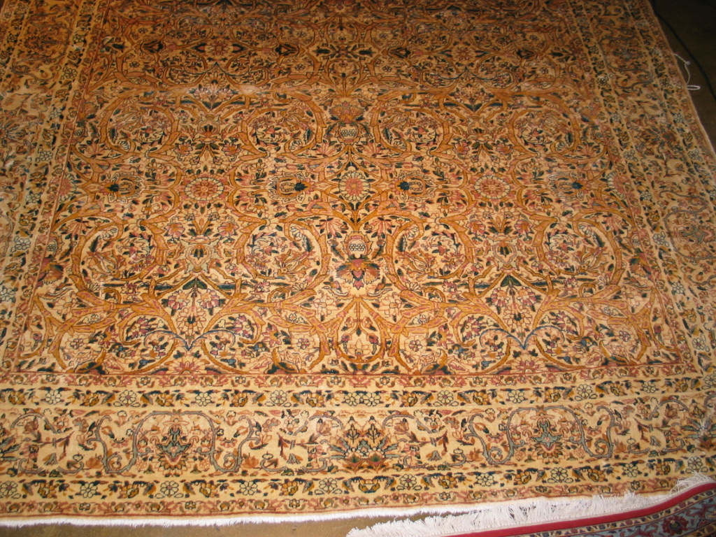 Persian Kerman Carpet | Semi-Antique | Handmade