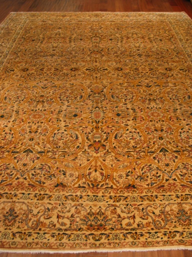 12829 semi-antique Persian Kirman carpet, c. 1920s 9,1 x 11,10