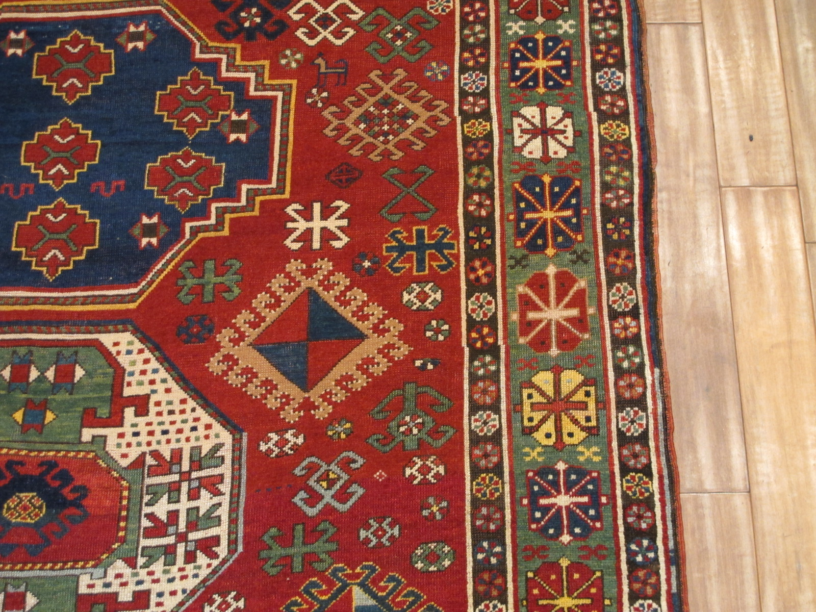 12989 antique Caucasian Kazak rug 6,2x11,4 (2)