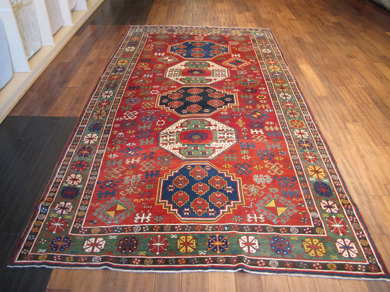 12989 antique Caucasian Kazak rug 6,2x11,4