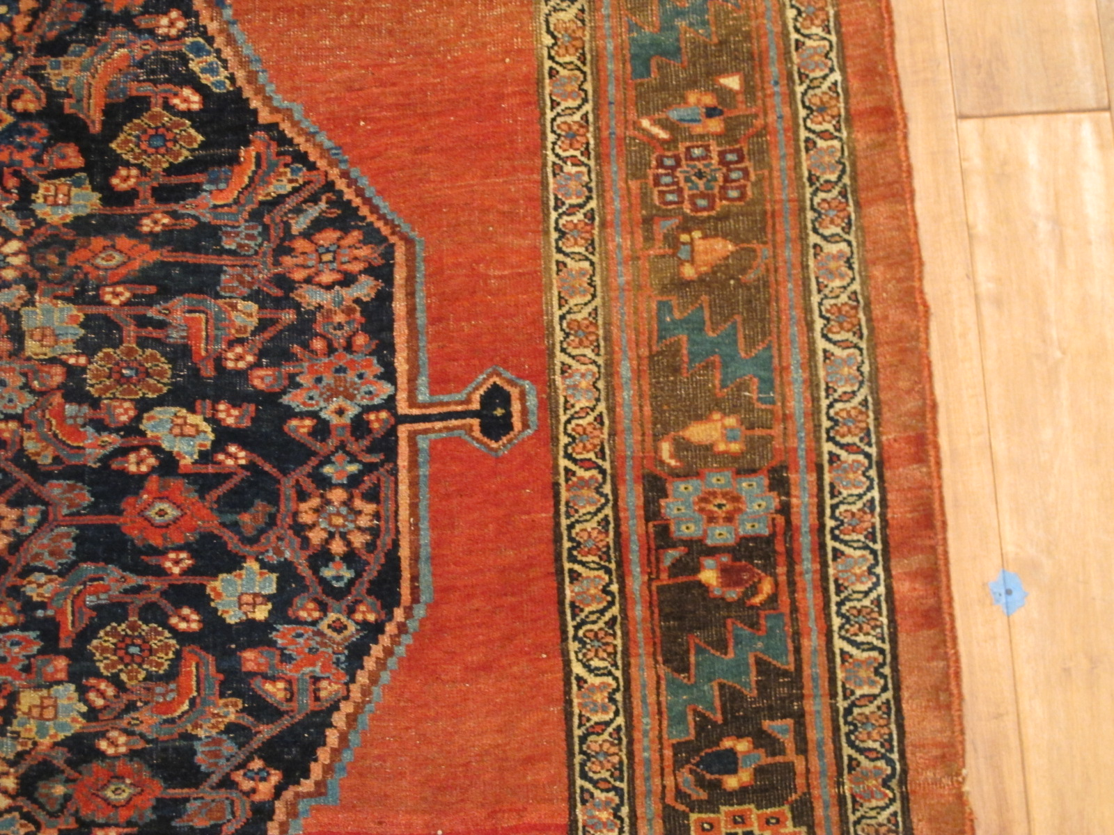 13027 antique Persian Bidjar gallery rug 5x11,10 (2)