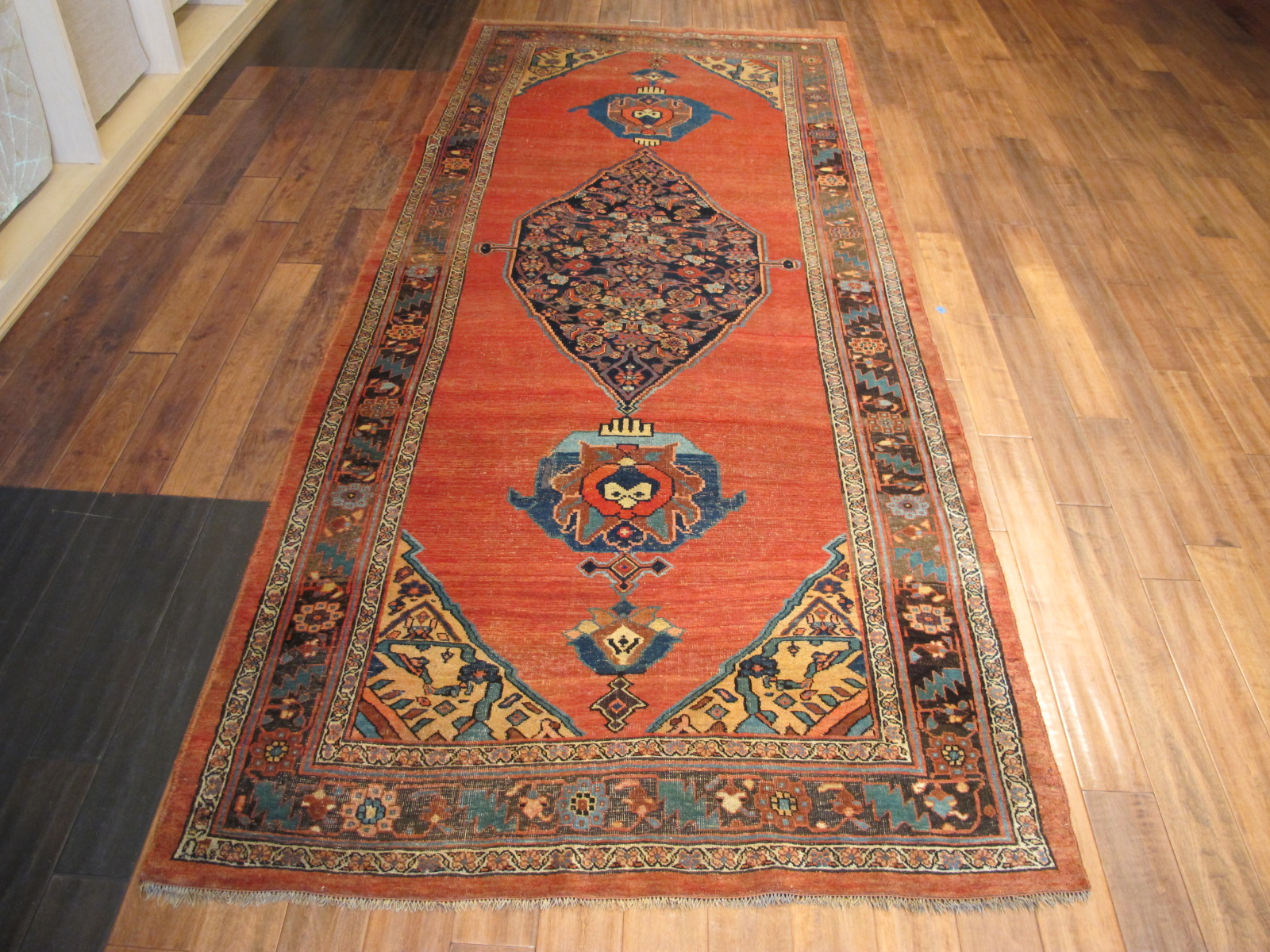 13027 antique Persian Bidjar gallery rug 5x11,10