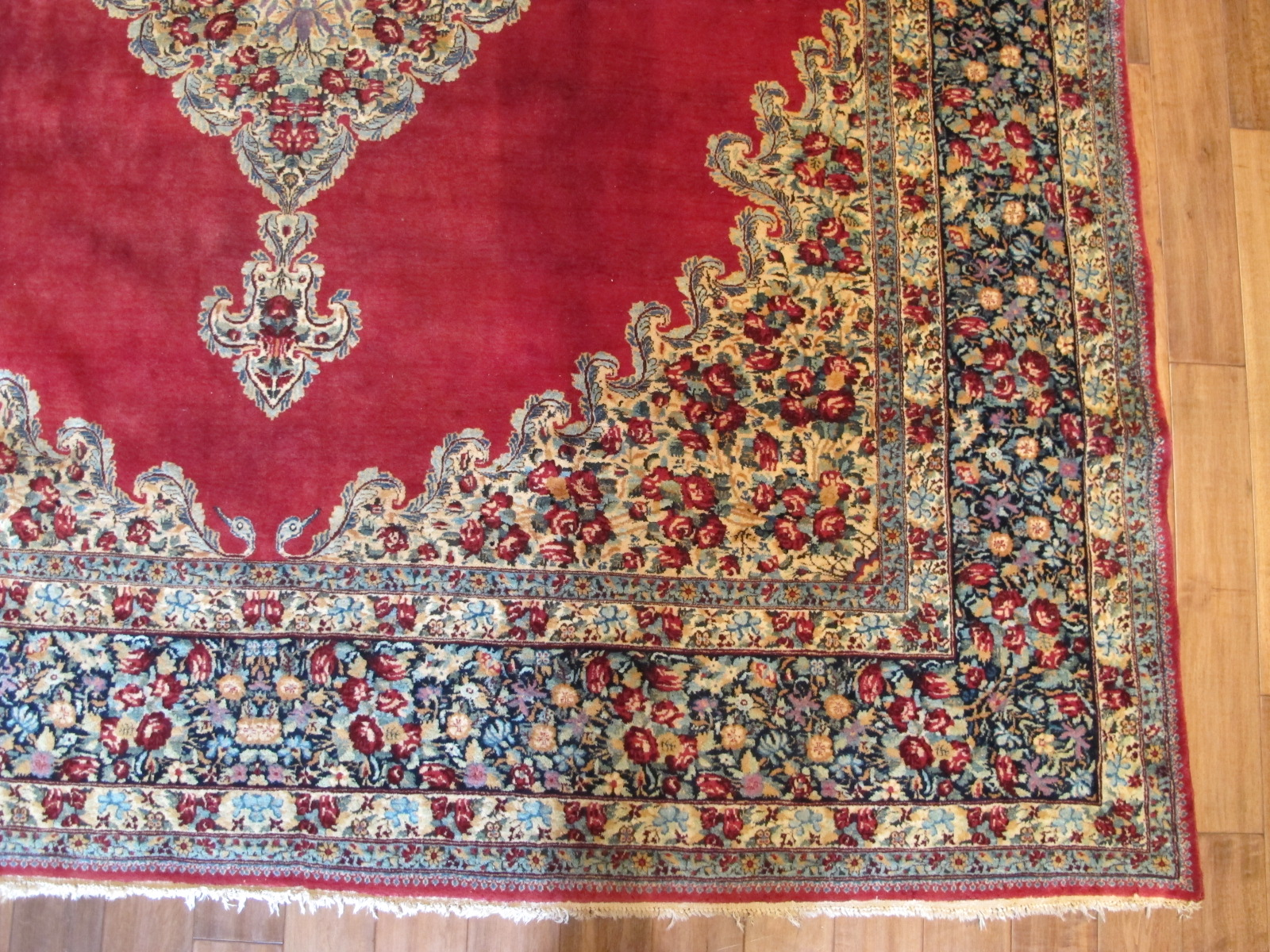 13028 semi-antique persian kerman rug 8,10 x 11,3 (1)