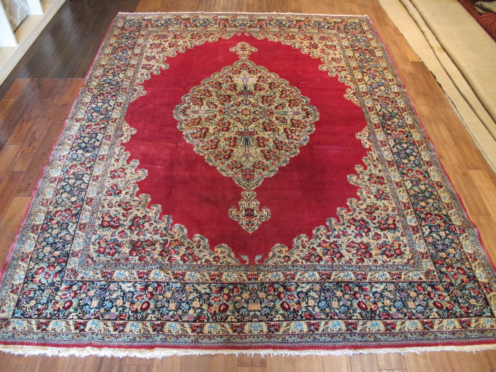13028 semi-antique persian kerman rug 8,10 x 11,3