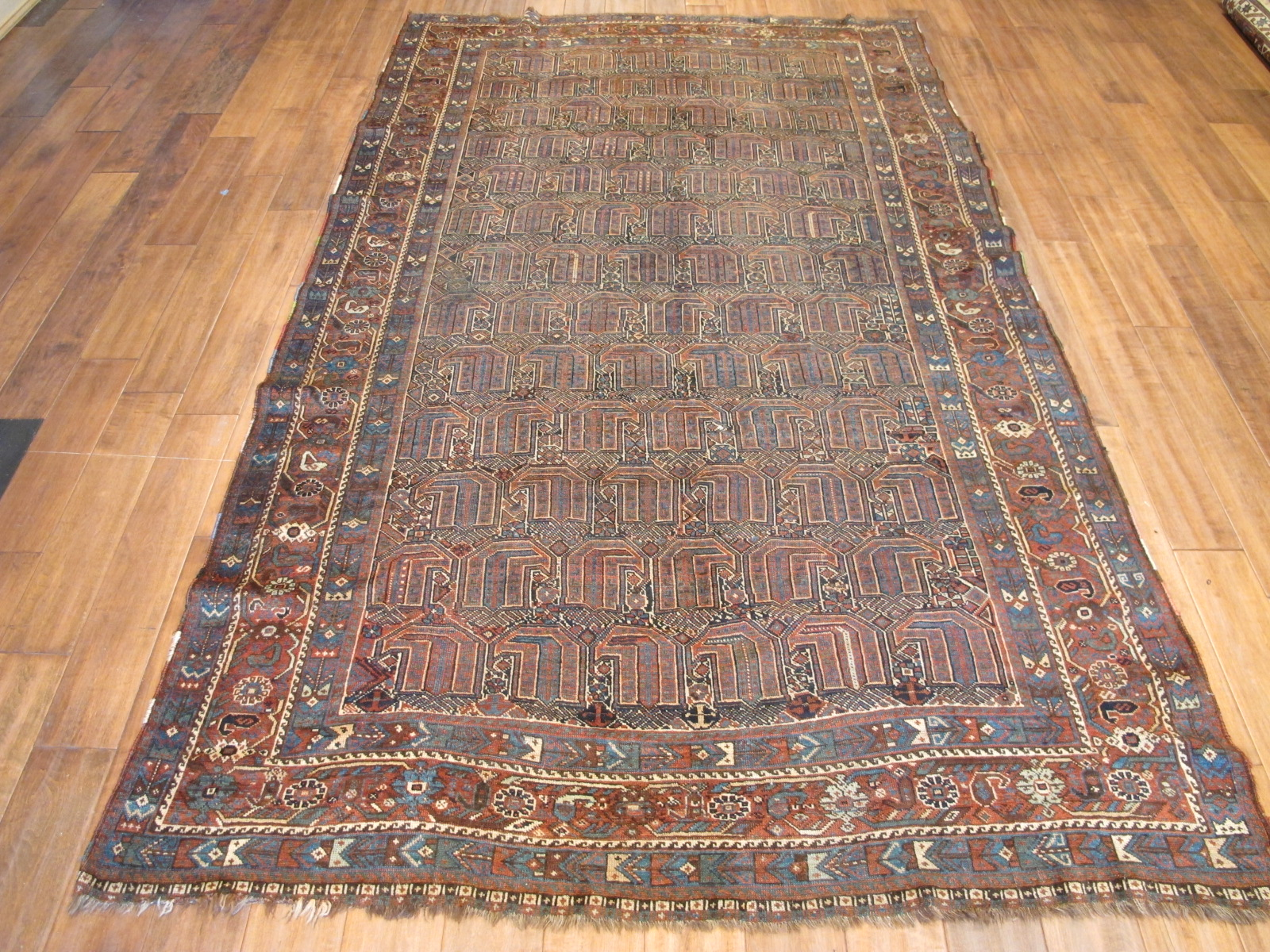 21114 antique persian kamseh carpet 5,2 x 9 (1)