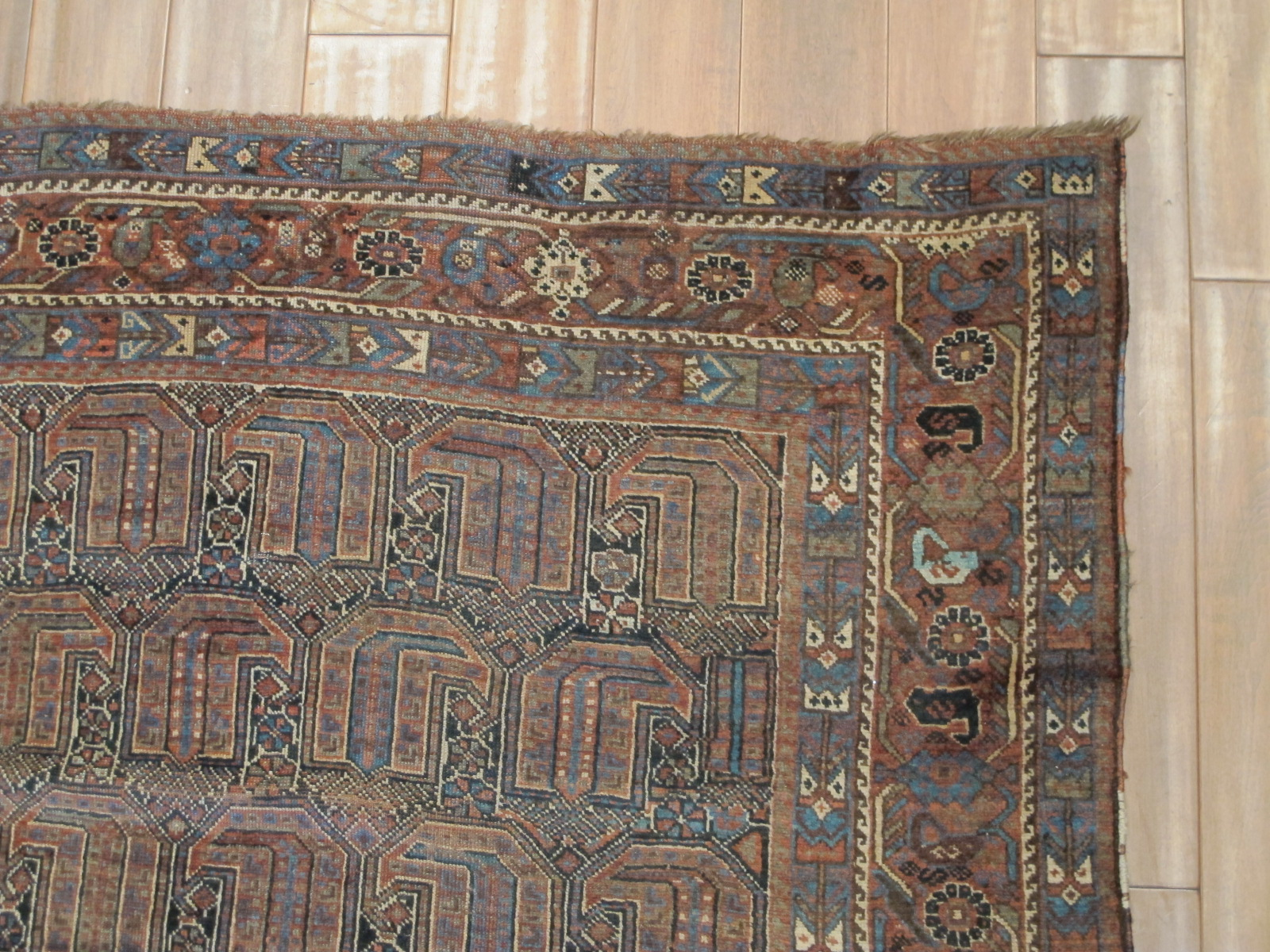 21114 antique persian kamseh carpet 5,2 x 9 (2)