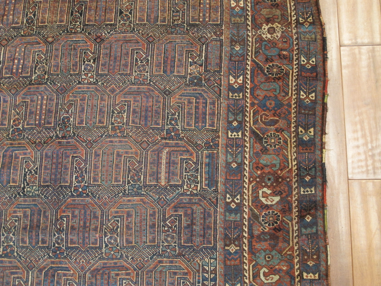 21114 antique persian kamseh carpet 5,2 x 9 (3)