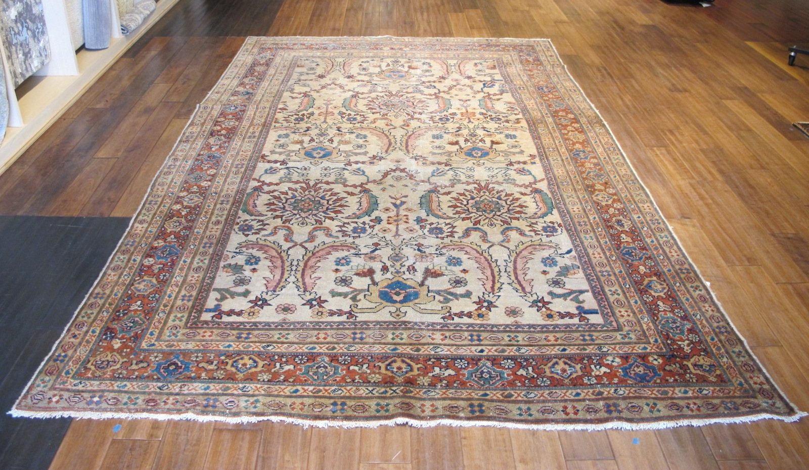 21232 antique Persian Sultanabad Mahal rug 6,8x10,5 (2)