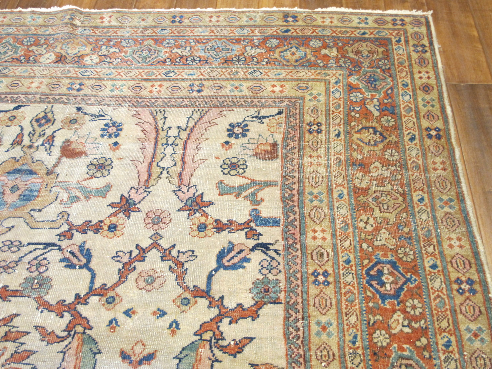 21232 antique Persian Sultanabad Mahal rug 6,8x10,5 (3)