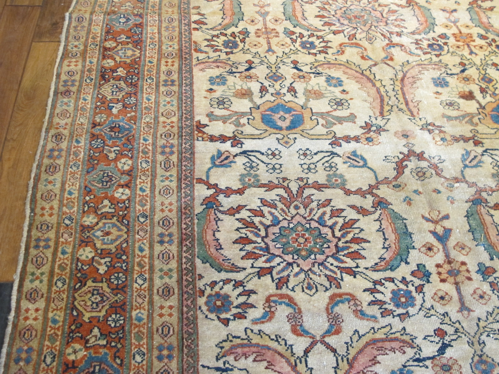 21232 antique Persian Sultanabad Mahal rug 6,8x10,5 (4)