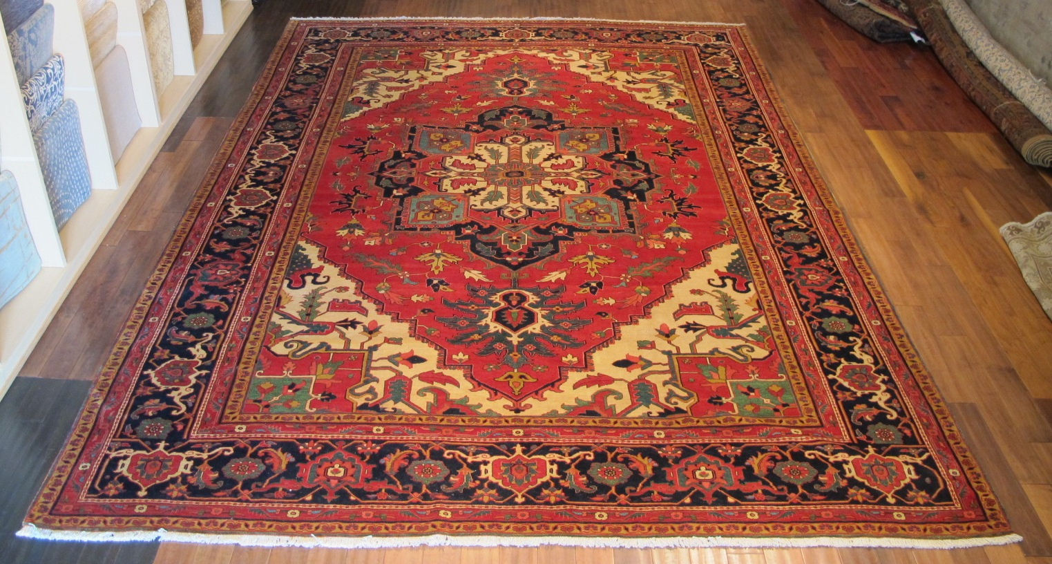 22305 vintage Persian Heriz carpet 11,5x14,10 (1)