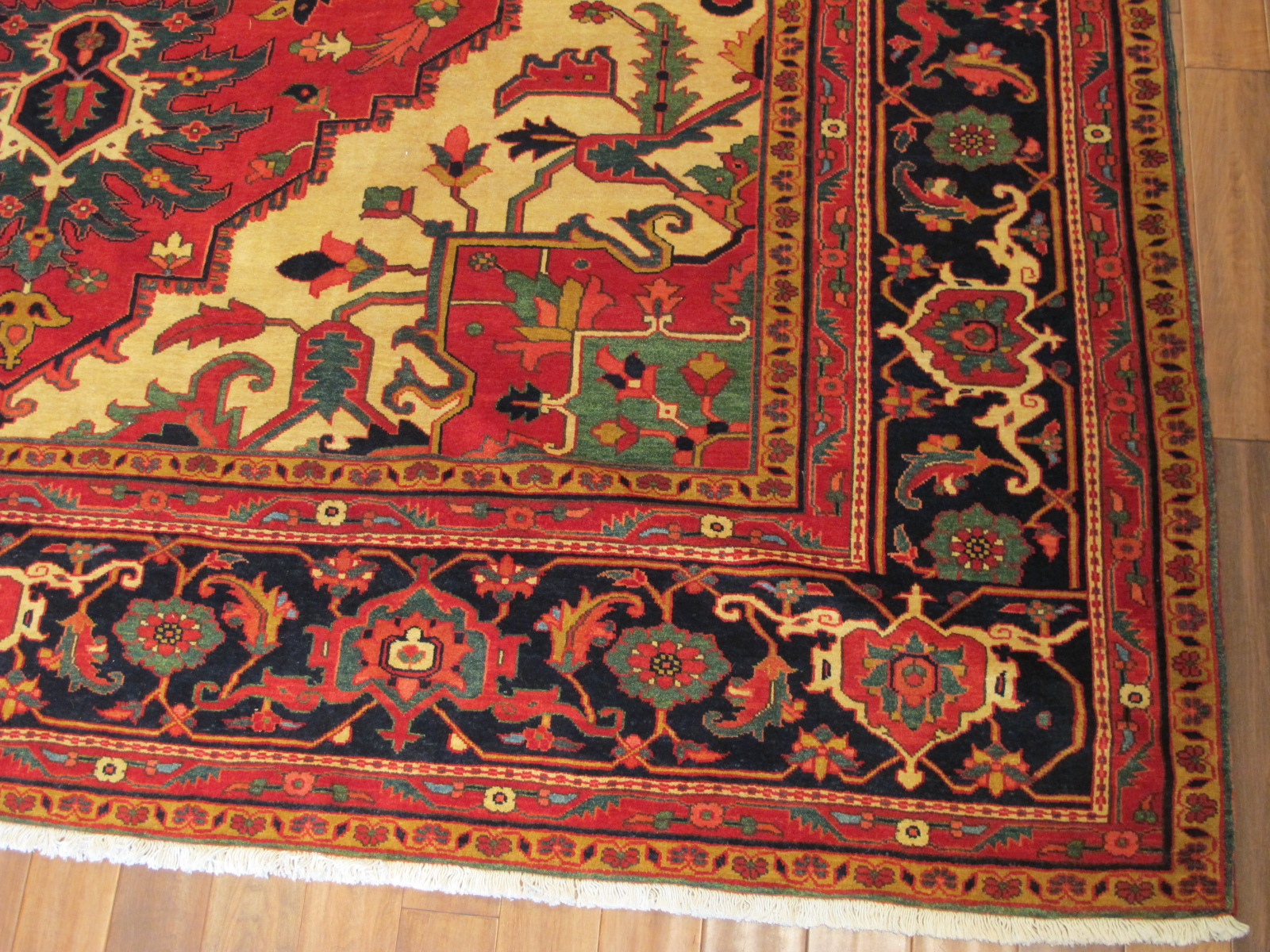 22305 vintage Persian Heriz carpet 11,5x14,10 (2)