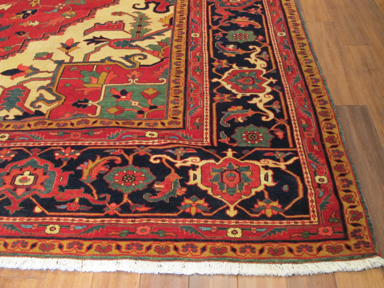 22305 vintage Persian Heriz carpet 11,5x14,10 (3)