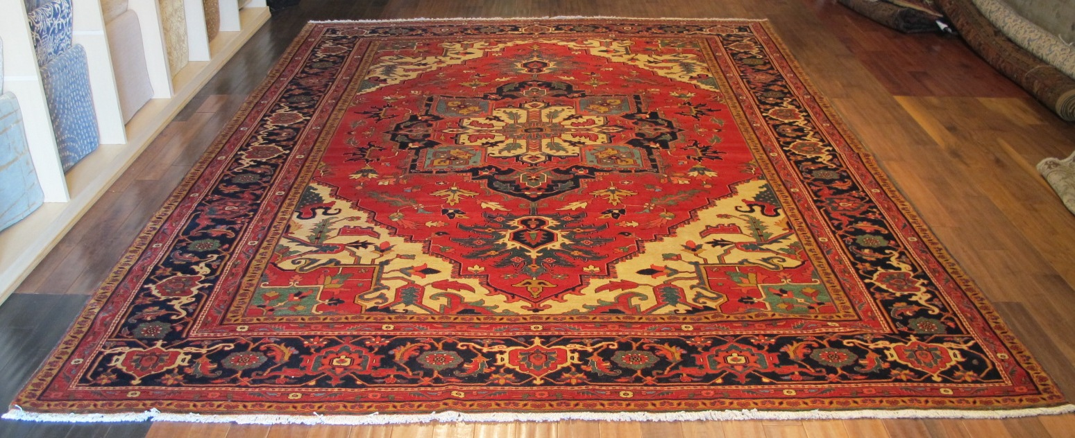 22305 vintage Persian Heriz carpet 11,5x14,10