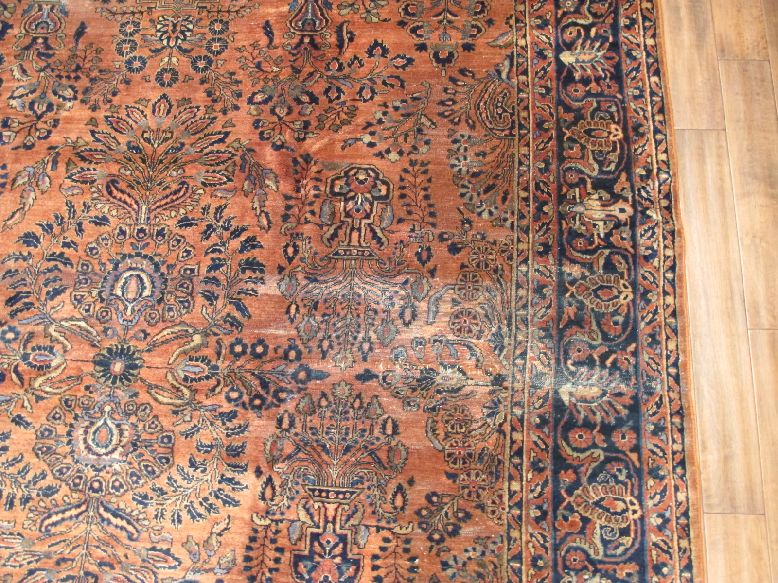 22323 semi antique persian sarouk rug 8,7x10,10 (4)