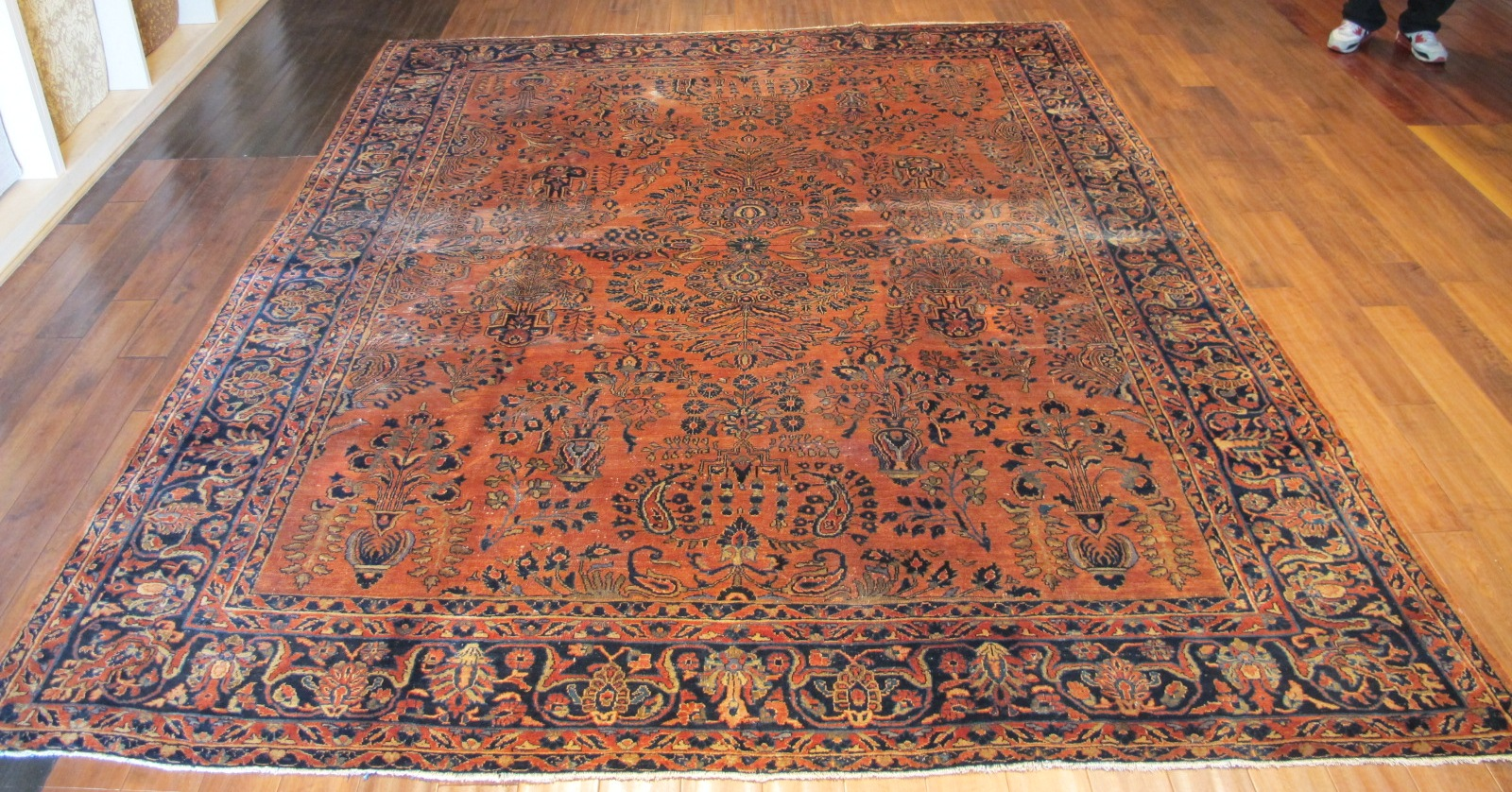 22323 semi antique persian sarouk rug 8,7x10,10