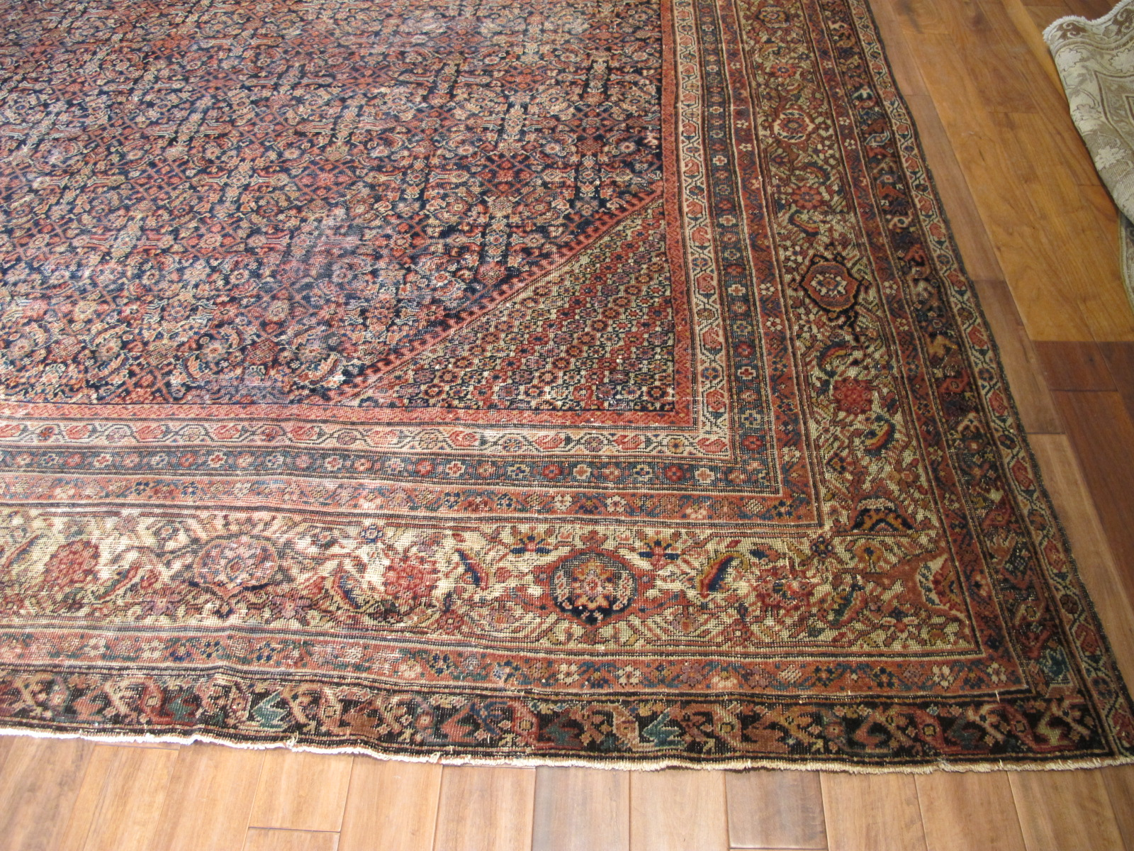 22329 antique persian mahal rug 12,3x16,7 (2)