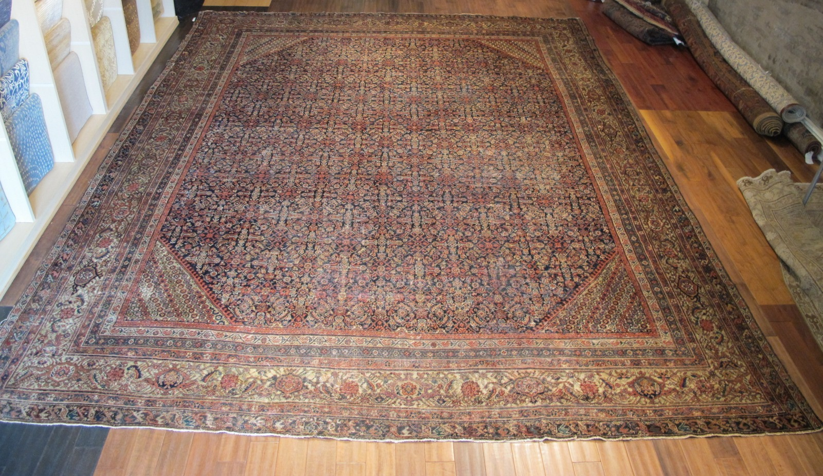 22329 antique persian mahal rug 12,3x16,7