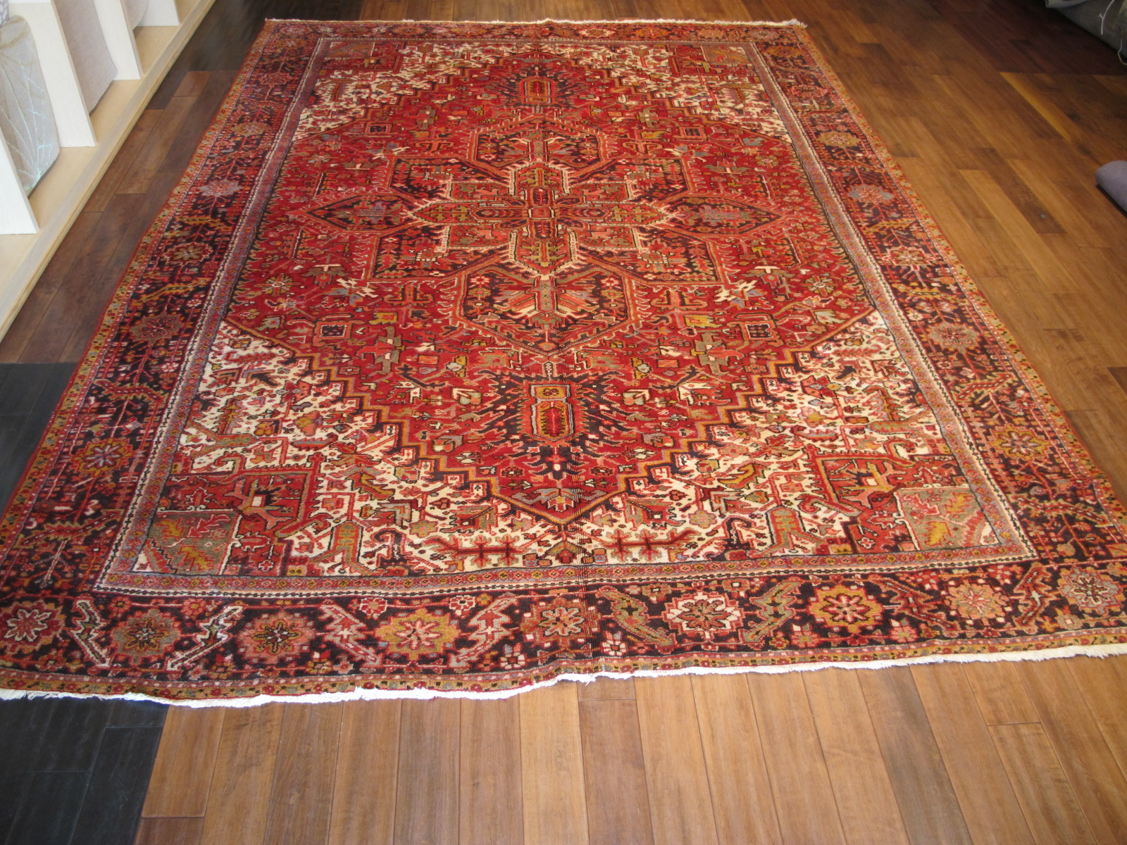 23048 persian karadja heriz carpet 9,10 x 12,3 (1)
