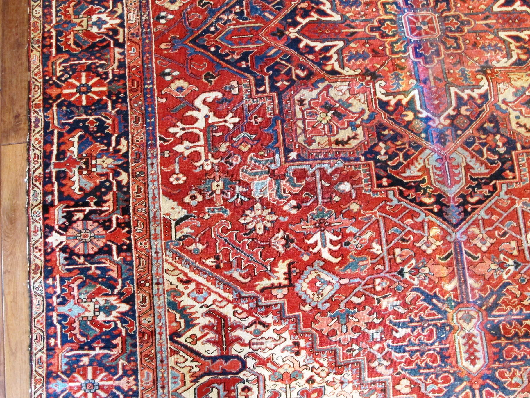 23090 semi antique persian heriz 9,8x13,5 (3)