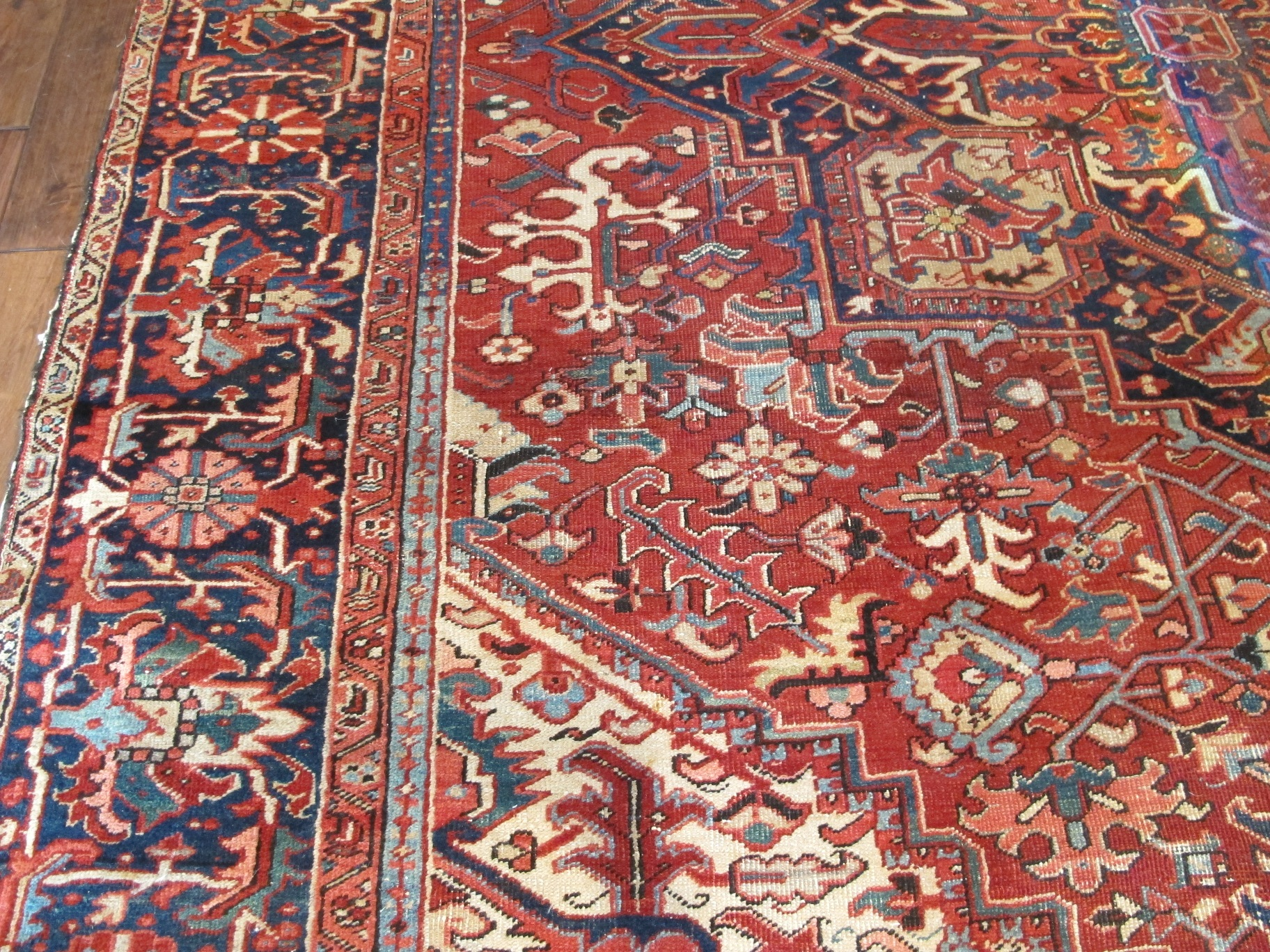 23090 semi antique persian heriz 9,8x13,5 (4)