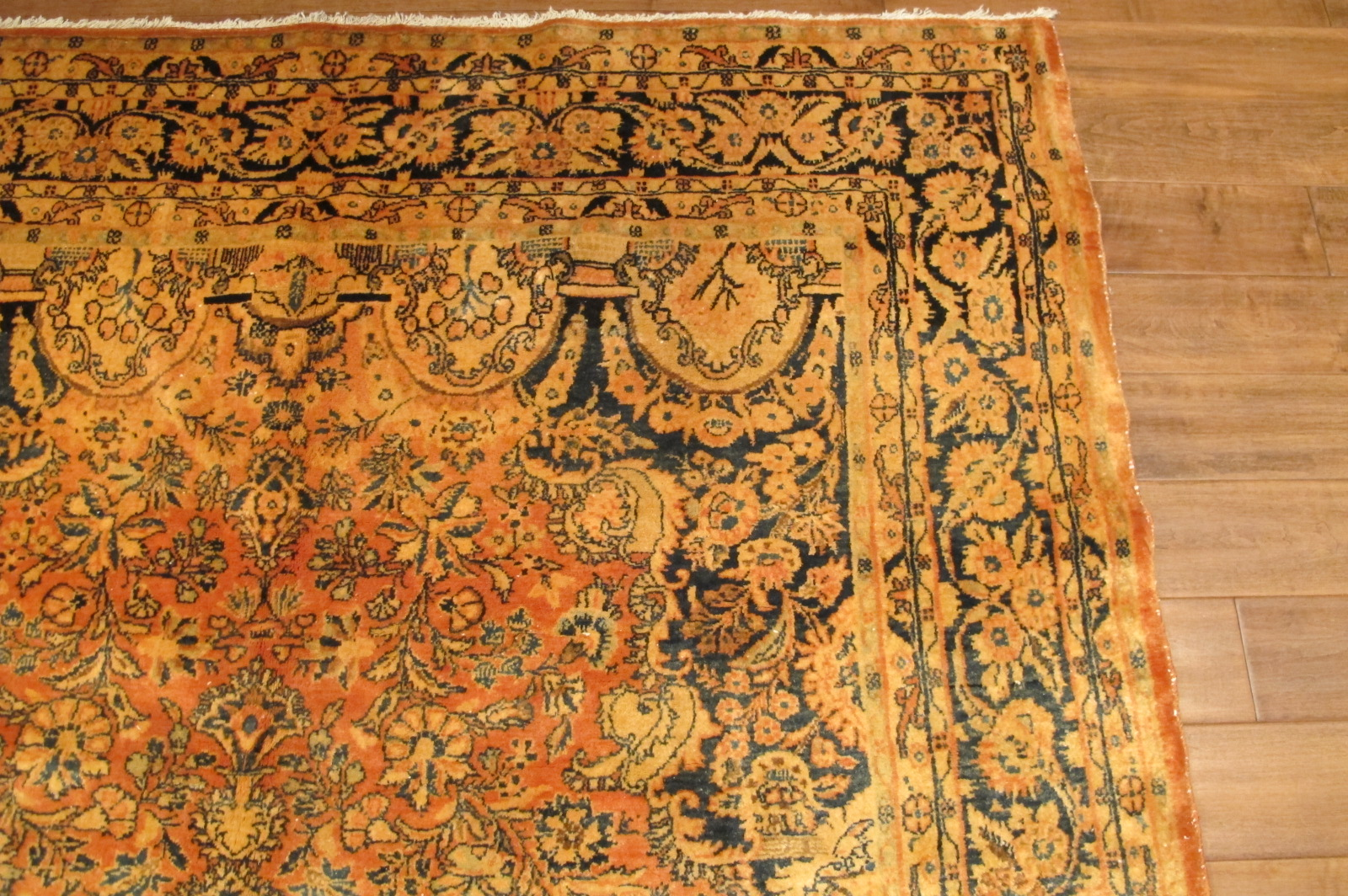 42 semi antique pesian sarouk rug 6,2 x 9,6 (1)