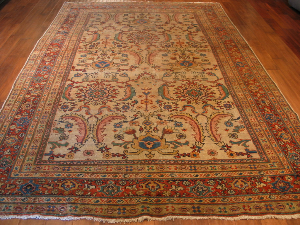 A0 21232 Antique Persian Sultanabad carpet 6,8 x 10,5 (1)