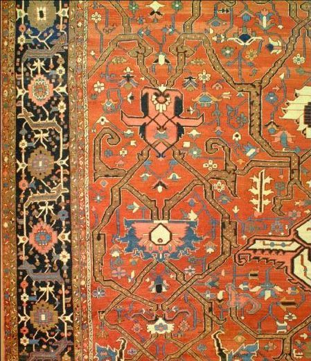 E5 22328 antique Persian Serapi 26 x 17,10 -