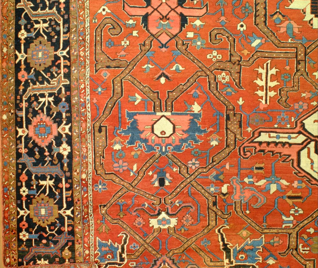 E5 22328 antique Persian Serapi 26 x 17,10