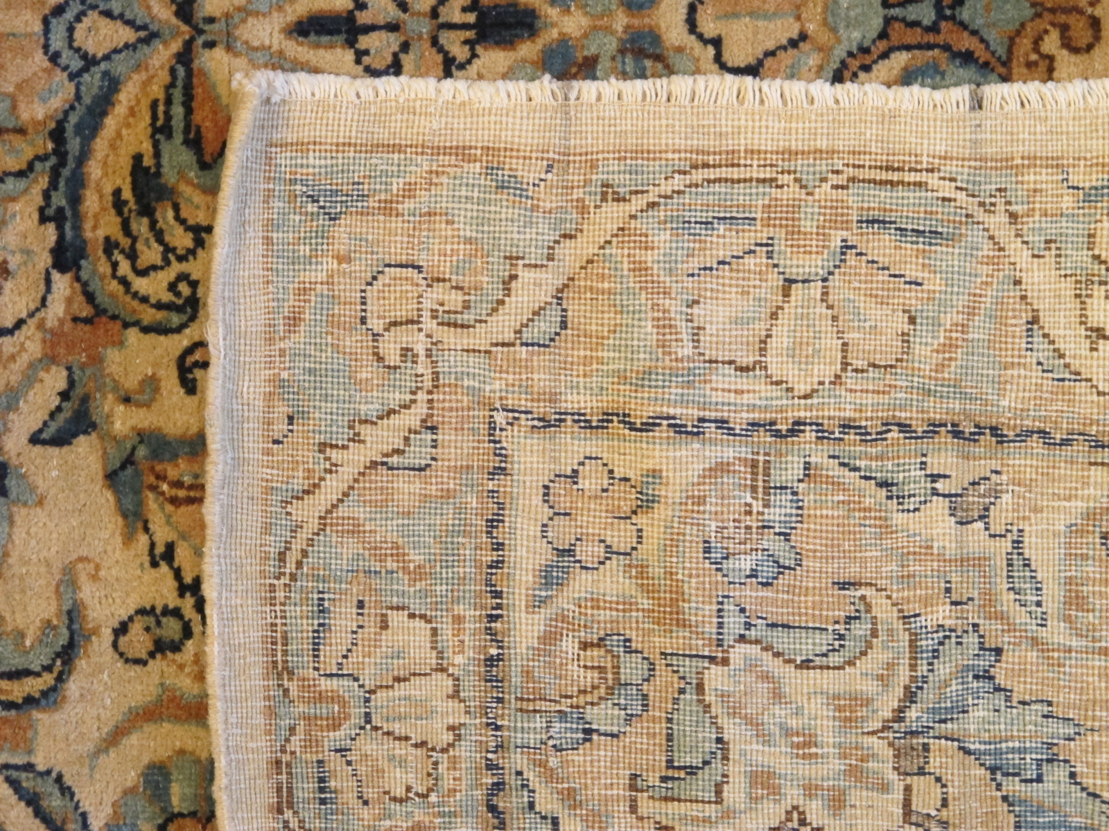 semi antique persian kirman rug