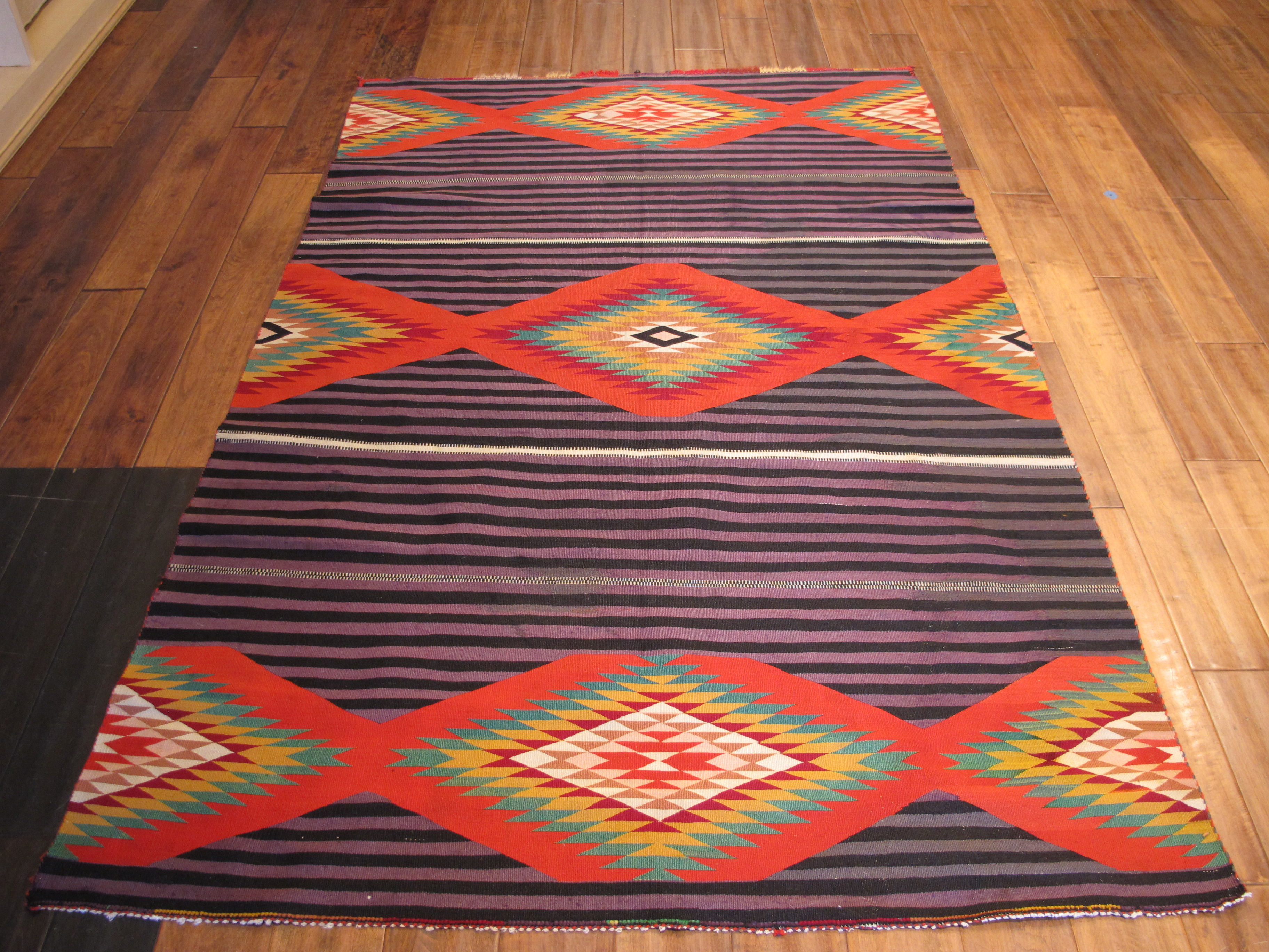 13052 antique Navajo Germantown rug 6,11 x 4,6 (2)