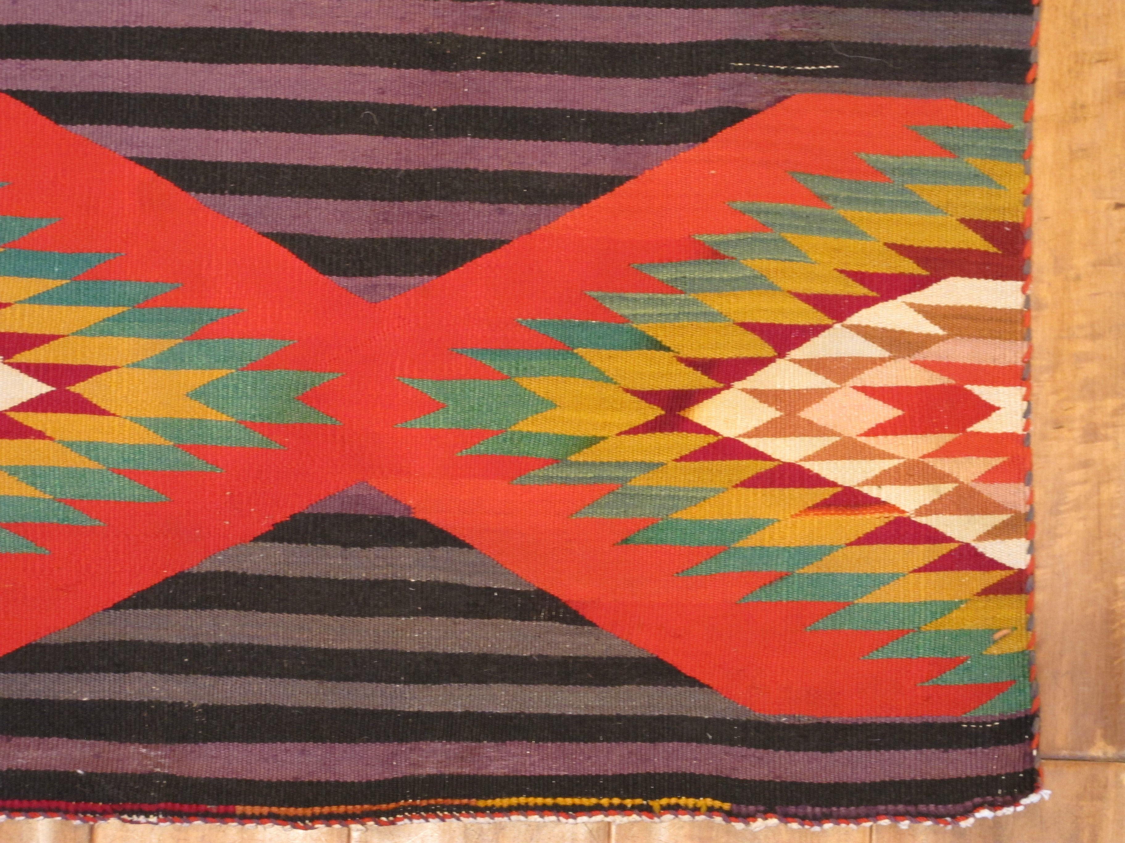13052 antique Navajo Germantown rug 6,11 x 4,6 (3)