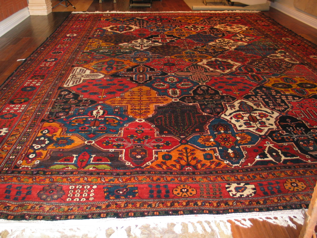 Antique Persian Baktiar Carpet | Circa 1910