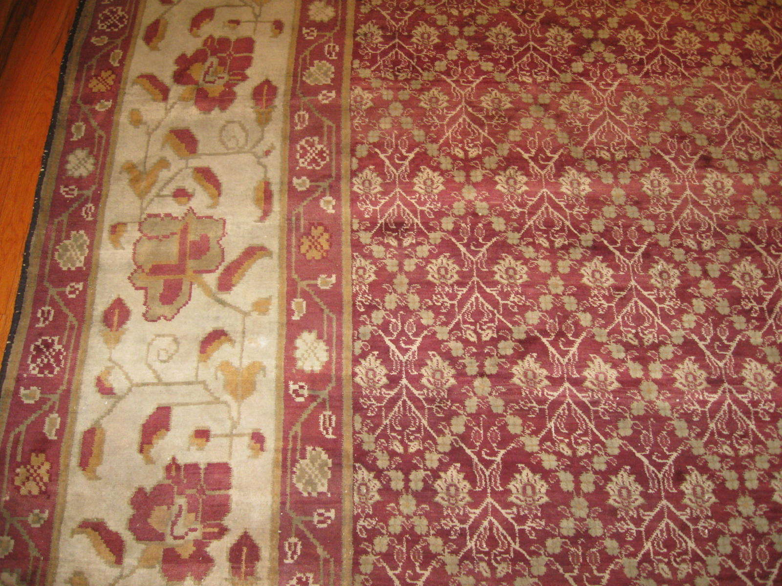 24261 antique India Agra carpet 17,5 x 27,2 (2)