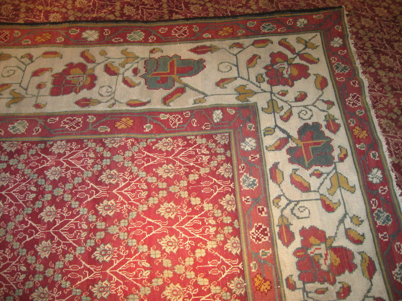 24261 antique India Agra carpet 17,5 x 27,2 (3)