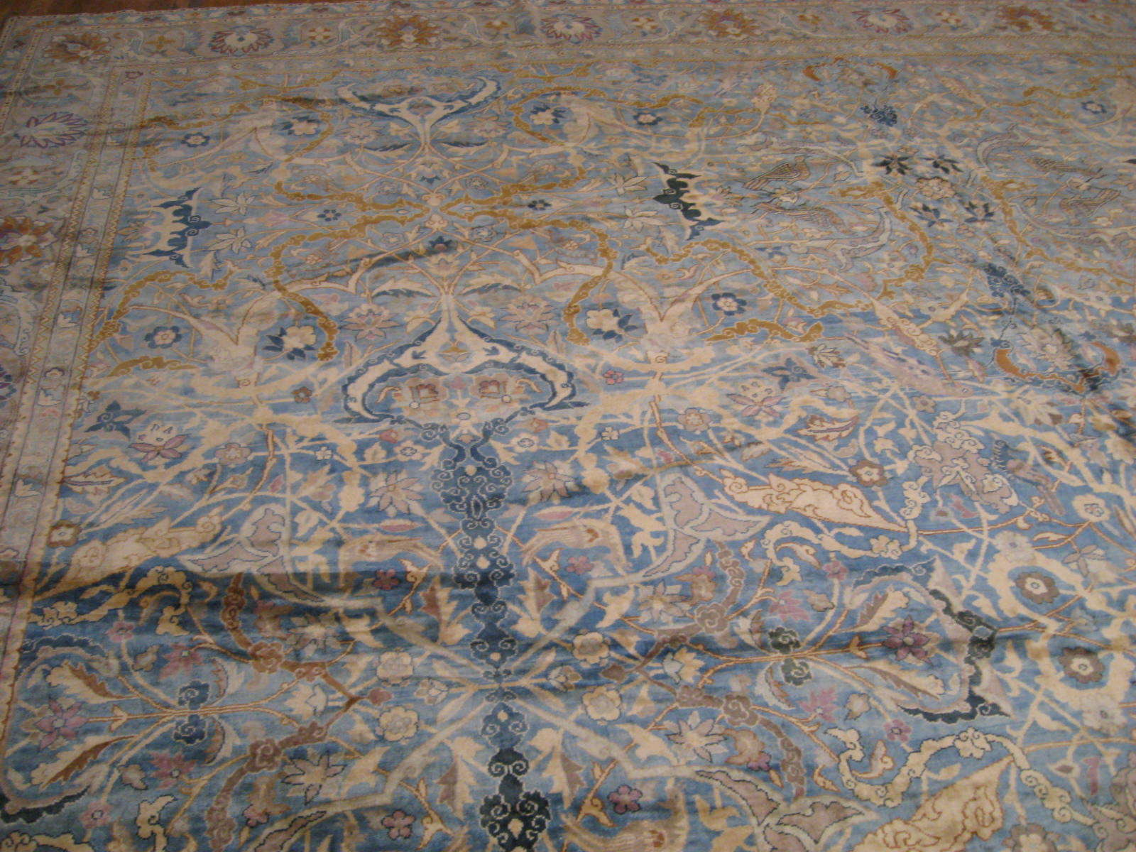 24263 antique Indo Tabriz carpet 22,6 x 23 (4)